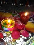 Свечи декоративных идей diy Стоковые Фотографии RF