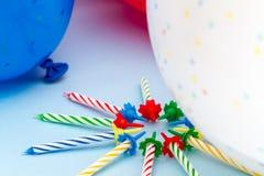 Свечи и воздушные шары партии Стоковое Фото