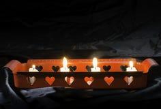 Свечи и формы сердца Стоковое Изображение