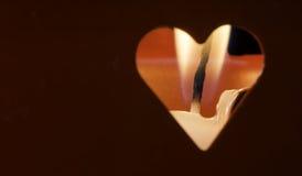 Свечи и формы сердца Стоковые Фото