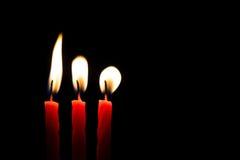 Свечи конспекта III пламени Стоковые Изображения RF