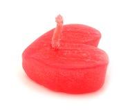 Свечи красного цвета формы сердца Стоковые Фото