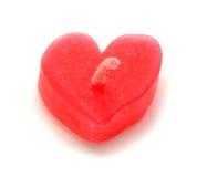 Свечи красного цвета формы сердца Стоковое Изображение RF