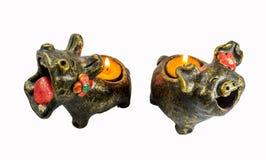 Свечи кукол глины Стоковые Изображения