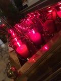 Свечи молитве в базилике собора Стоковое Фото