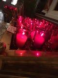 Свечи молитве в базилике собора Стоковая Фотография