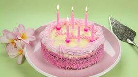 Свечи дня рождения освещения видеоматериал