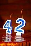 Свечи дня рождения стоковое фото rf