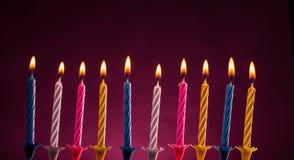 Свечи дня рождения Стоковые Изображения