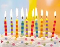 Свечи дня рождения Стоковая Фотография RF