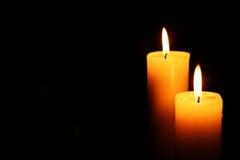 2 свечи осветили справедливо Стоковое Изображение RF
