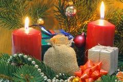 Свечи пришествия Стоковое Фото