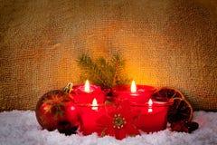 4 свечи пришествия Стоковые Изображения RF
