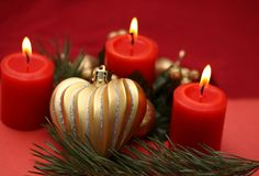 Свечи рождества Стоковое Изображение RF