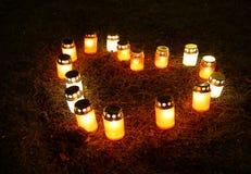 Свечи сердца Стоковые Фотографии RF
