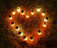 Свечи сердца Стоковые Изображения
