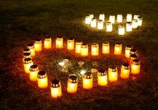 Свечи сердца Стоковая Фотография RF