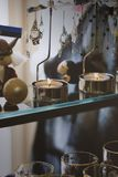 2 свечи с аксессуарами Стоковые Фотографии RF