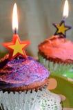 Свечи торжества пирожного Стоковые Фотографии RF
