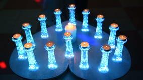 Свечи, увядая по-одному акции видеоматериалы