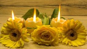 Свечи украшения пасхи Стоковые Изображения
