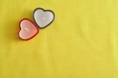 2 свечи формы сердца Стоковые Изображения RF