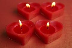 Свечи формы сердца Стоковая Фотография RF
