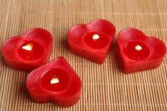 Свечи формы сердца Стоковые Изображения RF