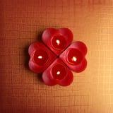 Свечи формы сердца Стоковая Фотография