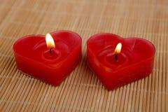 Свечи формы сердца Стоковые Фото