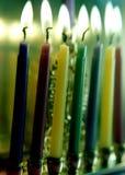 Свечи Хануки/счастливая Ханука/Menorah/канделябр Стоковые Фото