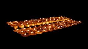 Свечи церков в темноте видеоматериал