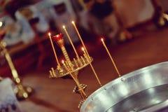 Свечи церков Стоковое фото RF