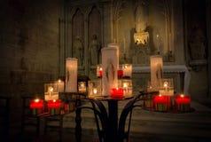 Свечи церков Стоковая Фотография