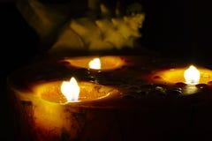 Свечи & Seashell Стоковая Фотография