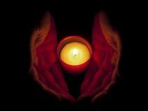 свечка вручает memoriam Стоковое Изображение