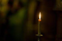 Свечка в церков Стоковое Изображение