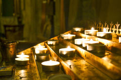 Свечка в церков Стоковое фото RF