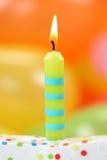 свечка дня рождения Стоковое Изображение