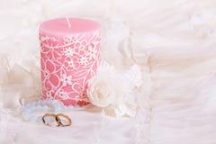 свечка звенит венчание Стоковые Изображения