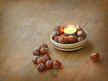 Свечка и hazel стоковые изображения