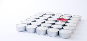 свечка миражирует серии одна красная белизна Стоковые Изображения RF