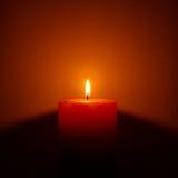 свечка одиночная Стоковое Фото