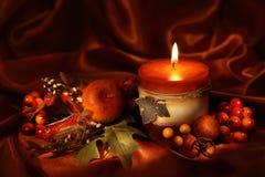 свечка осени Стоковая Фотография RF
