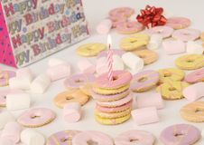 свечка печениь дня рождения Стоковое фото RF