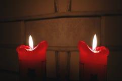 Свечка рождества и Новый Год Стоковая Фотография