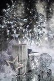 Свечка рождества с украшением Стоковые Фото