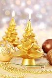 Свечка рождества Стоковые Изображения RF