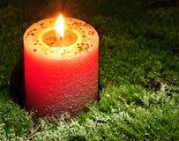 Свечка рождества Стоковое фото RF