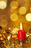 Свечка рождества Стоковые Фото